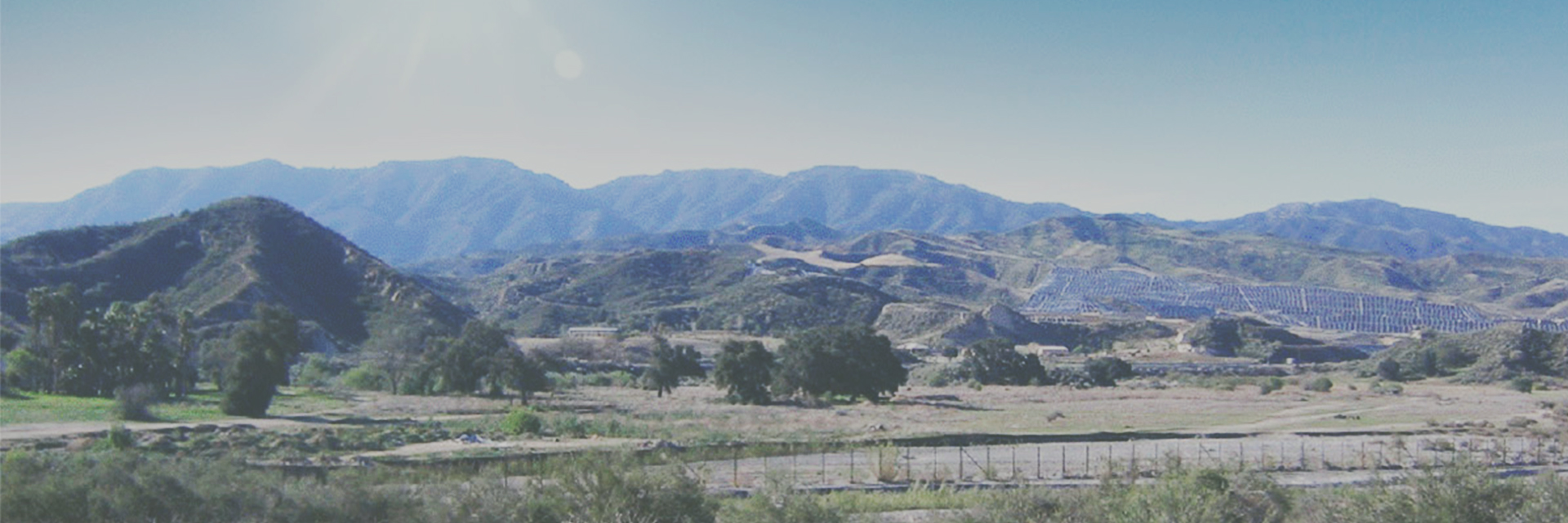 Landscape of Vista Canyon's Site